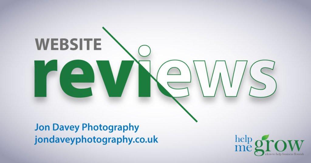 jondaveyphotography.co.uk website review