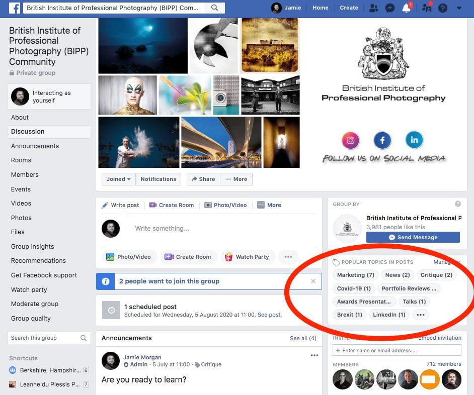 Topics - BIPP Facebook Community